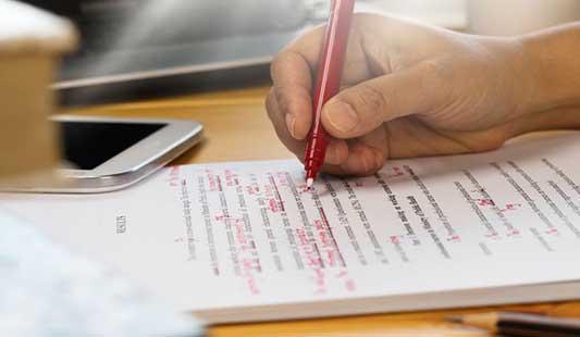Úprava a korektura textu