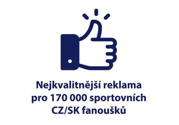 Sdílení reklamy pro 170k sportovních fanoušků na FB. Kvalita