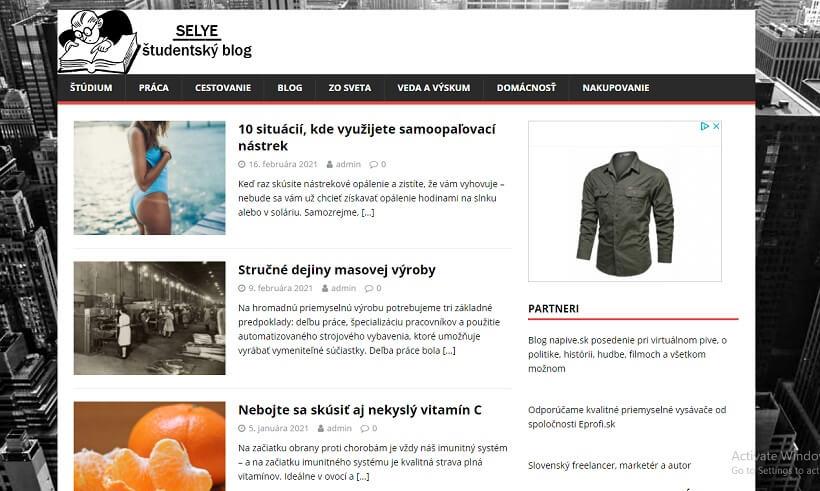 Publikujem článok na blogu selye.sk
