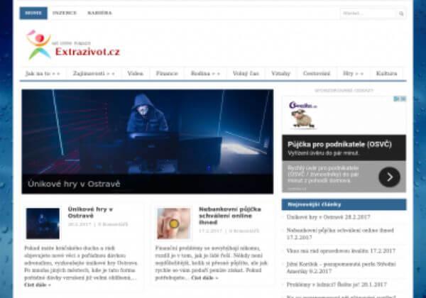 Trvalé umístění článku na magazín ExtraZivot.cz
