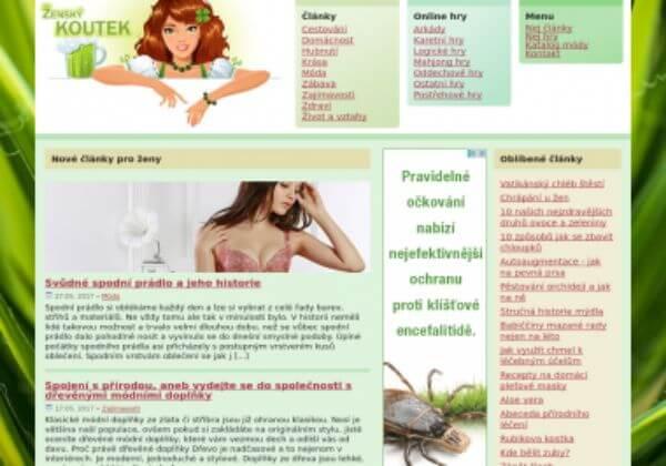 Trvalé umístění článku na ženský magazín ZenskyKoute