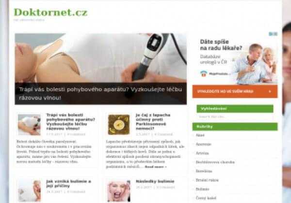 Trvalé umístění článku na magazínu o zdraví Doktornet.cz