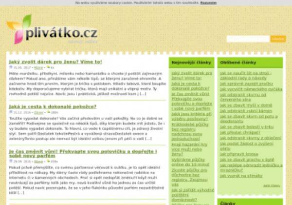 Trvalé umístění článku na magazín Plivátko.cz