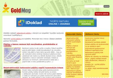 Trvalé umístění článku na finanční magazín Goldmag.cz