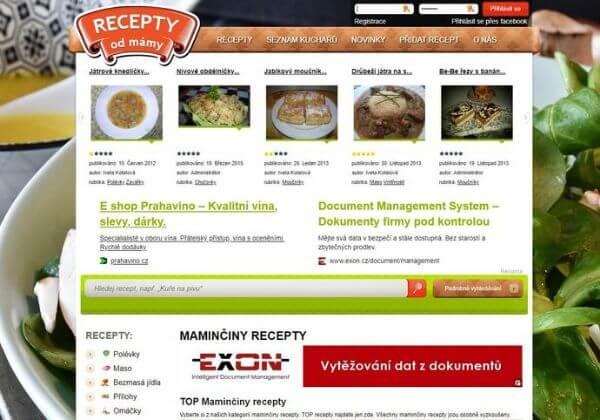 PR článek na Maminyrecepty.cz + FB sdílení(70tis uživ.)