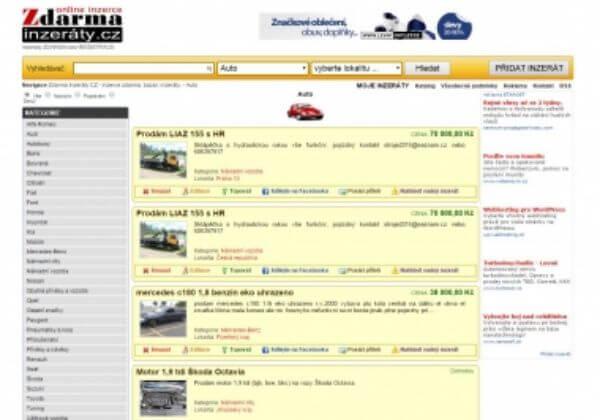 Velký grafický banner 728x90px v bezplatném inzertním webu