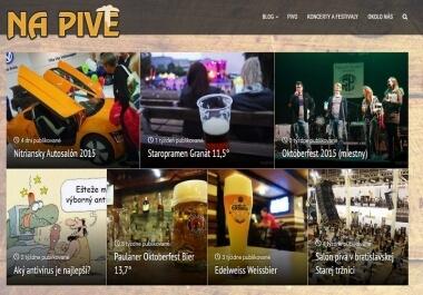 Publikujem článok na SK blogu o pive, hudbe, jedle