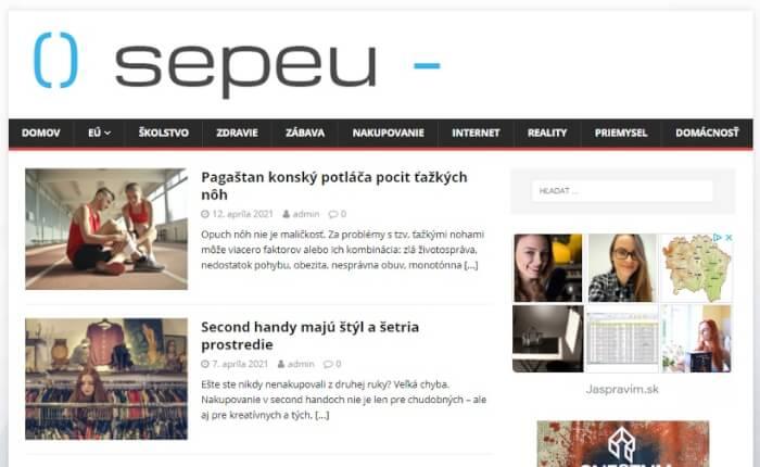 Publikujem PR článok na webe sepeu.sk