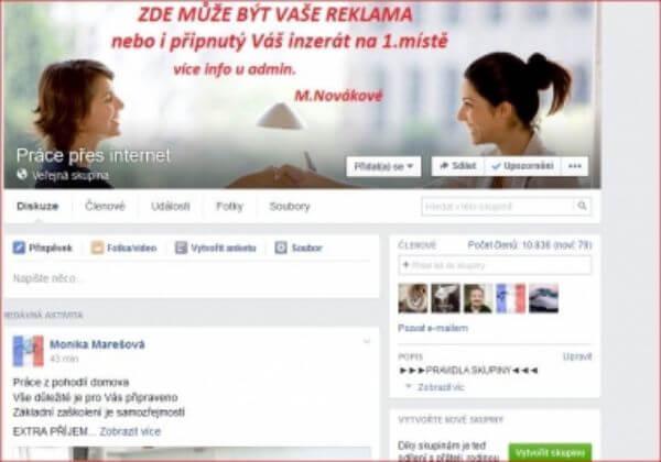 Připnutí Vašeho inzerátu v FB skupině zaměřené na