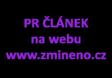 Napíši a publikuji článek na zmineno.cz