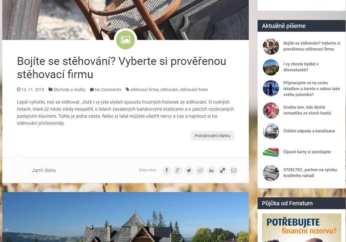 Sepsání a publikace článku na magazín 955.cz