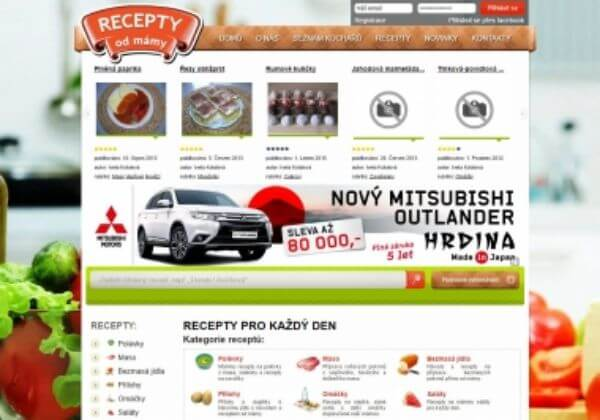 Odkaz z www.maminyrecepty.cz na 6 měsíců (recepty, jídlo)