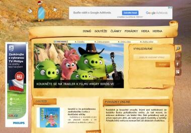Odkaz z www.koukalek.cz na 6 měsíců (pohádky, soutěže)