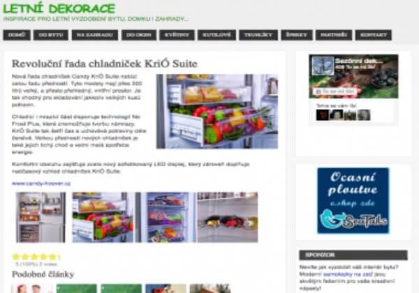 Publikujeme článek na webu www.letni-dekorace.cz