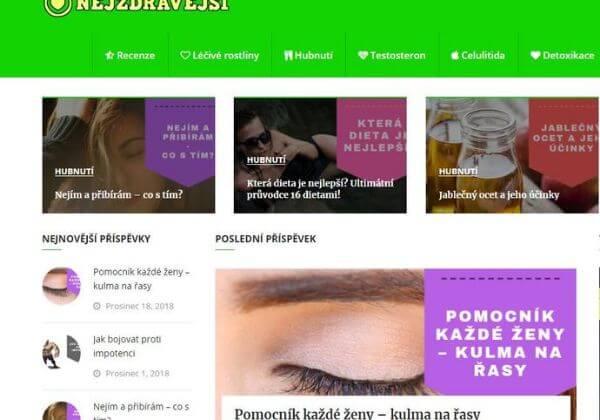 PR článek v magazínu zdraví - NEJZDRAVEJSI.cz