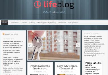 Článek na webu o bydlení www.lifeblog.cz