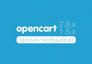 Oprava / programovanie systému OpenCart