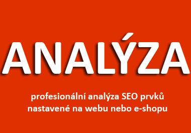 Analýza nastavení e-shopu podle SEO - 122 bodů v analýze