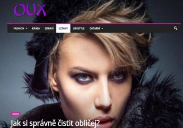 OUX.cz - dámský magazín - MozRank 4 - FB Zdarma