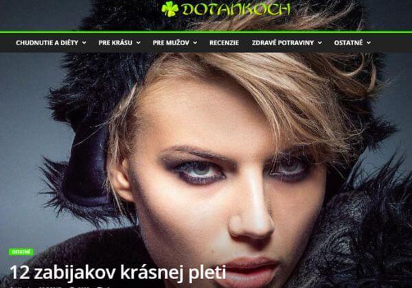 Slovenský magazín - zdraví a krása - 800 návštěv/Den