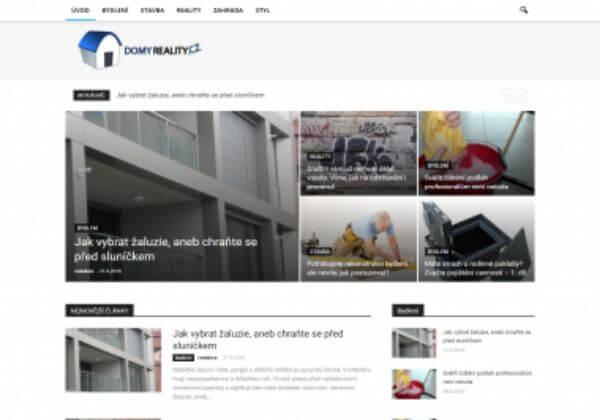 Publikujeme Váš PR článek na webu DomyReality.cz