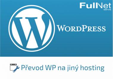 Převod WP na jiný hosting