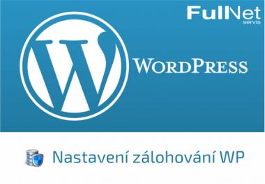 Nastavení zálohování Wordpressu