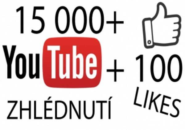 15 000+ Youtube zhlédnutí + 100 To se mi líbí