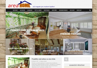 Publikace na webu o bydlení - AreaHome.cz