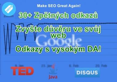 Vytvořím 30+ zpětných odkazů pro Váš web