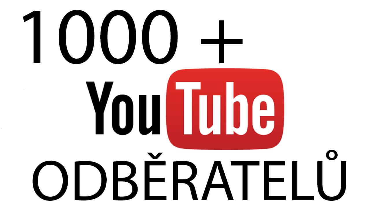2 000 + Youtube odběratelů
