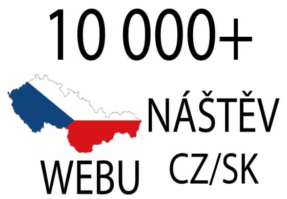 10 000+ návštěv webu z CZ/SK