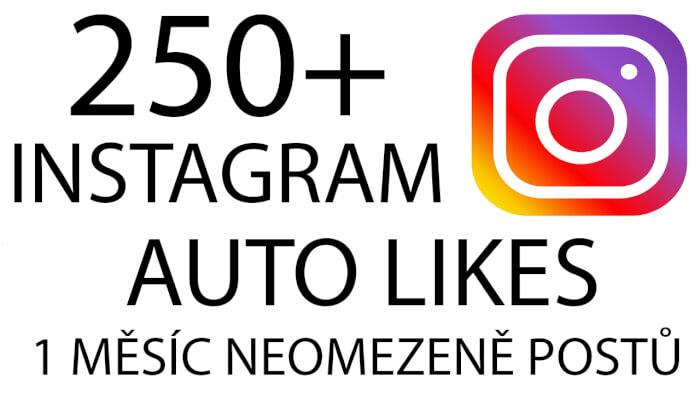 250+ Instagram Auto Likes - Neomezeně postů na měsíc