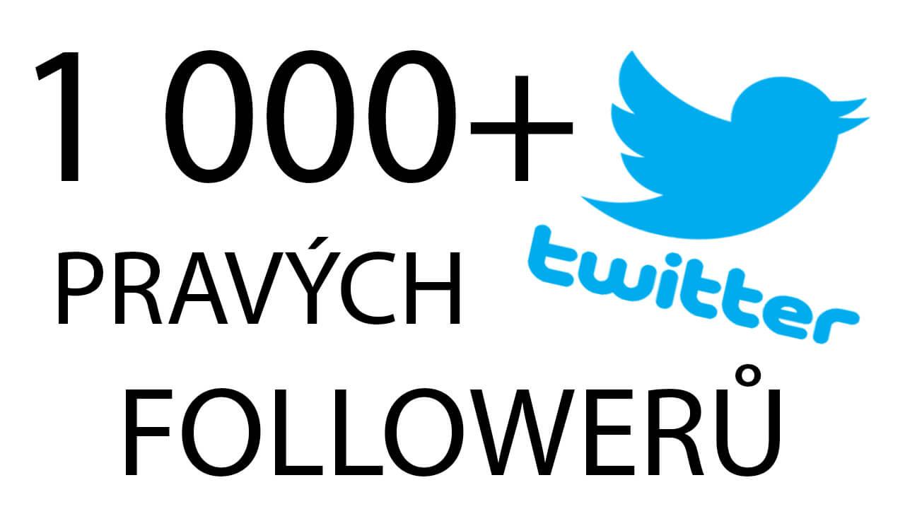 1 000+ Twitter followerů
