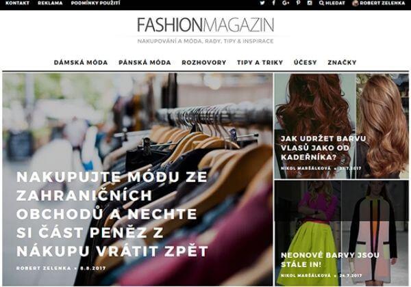 Napíši PR článek na FashionMagazin.cz