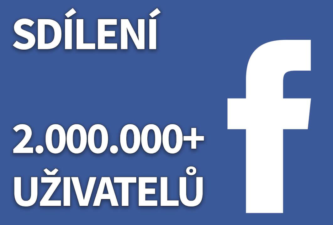 Sdílení do FB skupin pro 2.000.000 lidí (CZ/SK)