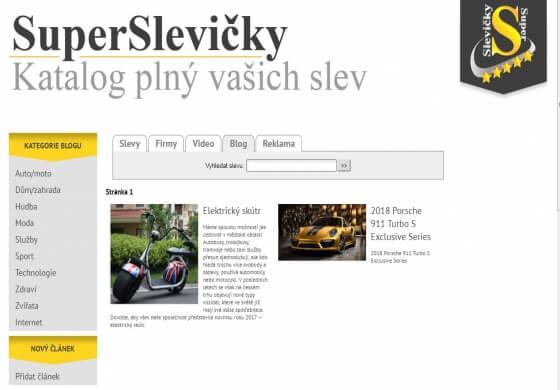 PR články v blogu pro vás u nás na superslevicky.cz