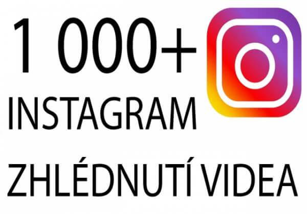1 000+ Instagram zhlédnutí videa