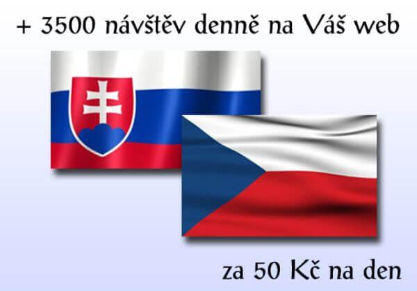 + 3 500 CZ a SK návštěv na Váš web během jednoho dne