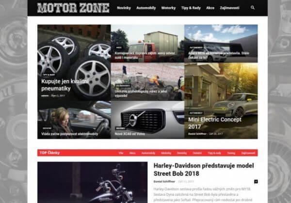 Publikace na Motorzone.cz