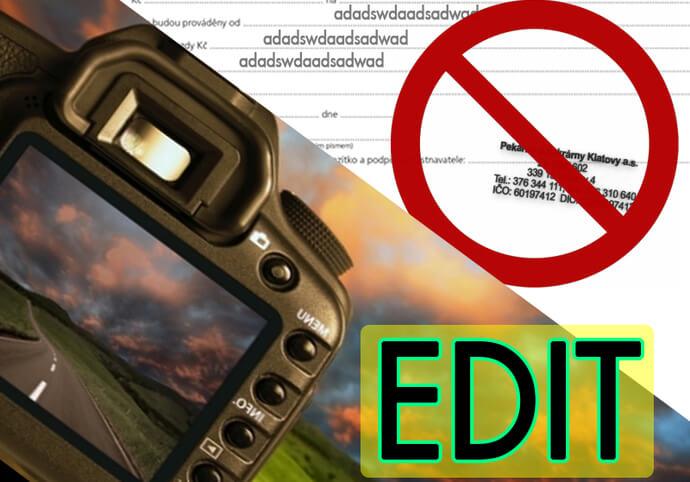 Kvalitní úprava fotografií/obrázků/dokumentů