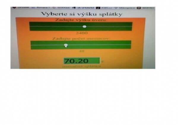Prodám HTML5 kalkulačku splátek