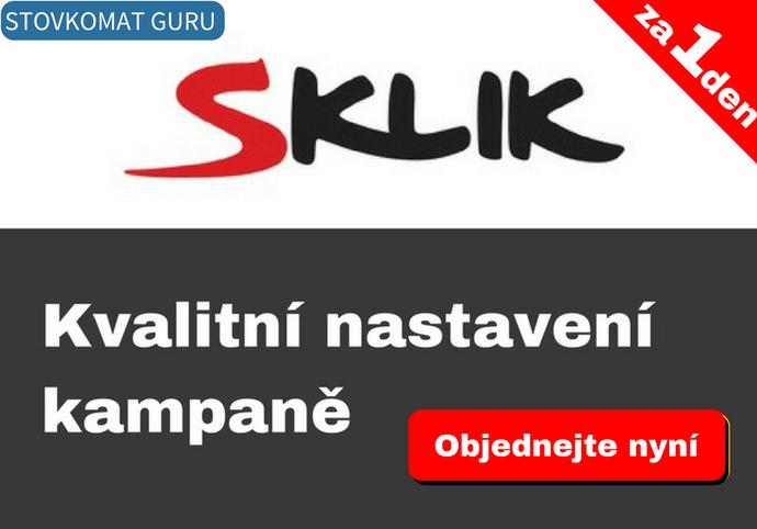 Sklik - výdělečné nastavení kampaně