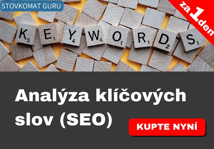 Analýza klíčových slov - SEO analýza - pro marketingový účel