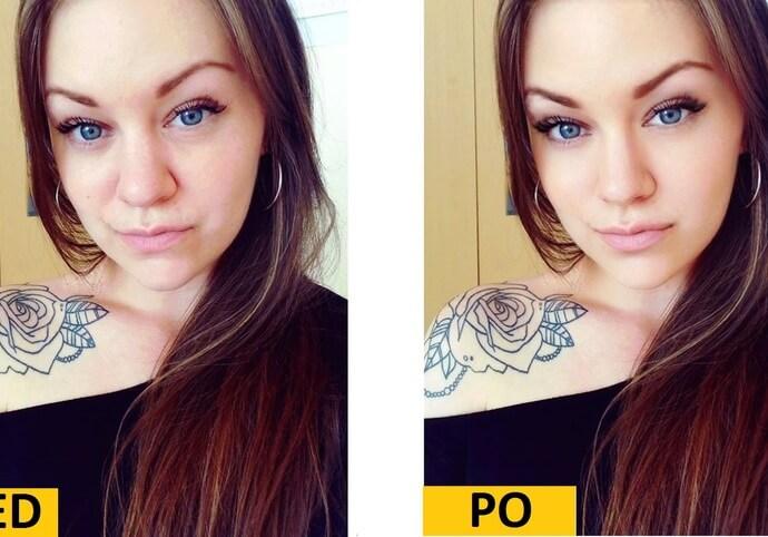 Retuš 40fotek obličeje do dokonalosti - např na fb,instagram