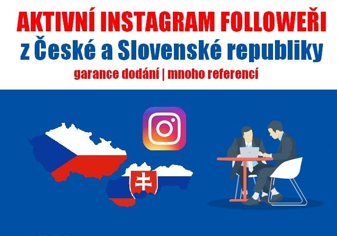Více než 1000 reálných followerů z CZ/SK | INSTAGRAM