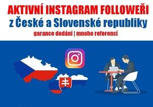 200+ reálných followerů z CZ/SK | INSTAGRAM
