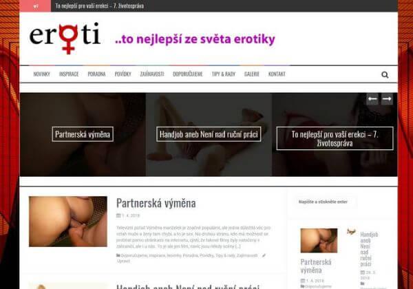Publikace na erotickém magazínu Eroti.cz