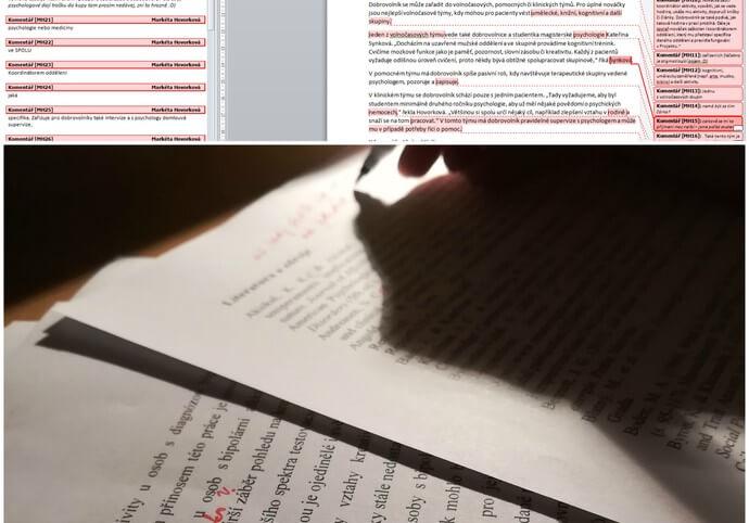 Gramatická a stylistická korektura textů