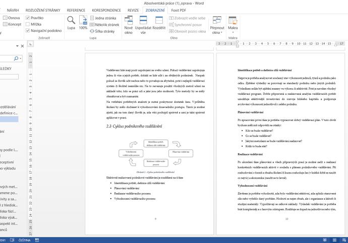 Kompletní úprava závěrečných prací ve Wordu